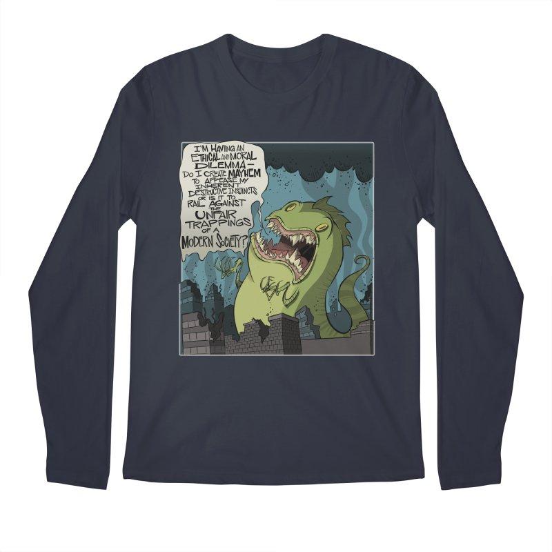 Existential Godzilla Men's Longsleeve T-Shirt by westinchurch's Artist Shop