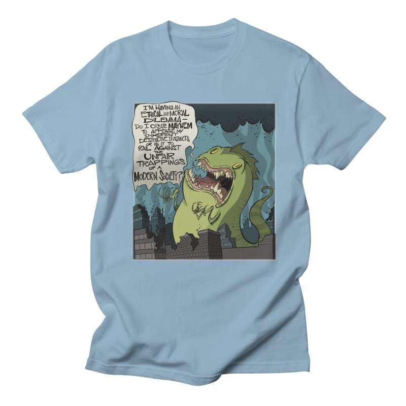 Existential Godzilla Men's T-Shirt by westinchurch's Artist Shop