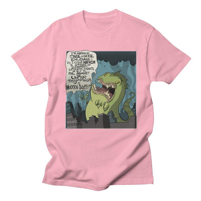Existential Godzilla Men's T-shirt by westinchurch's Artist Shop