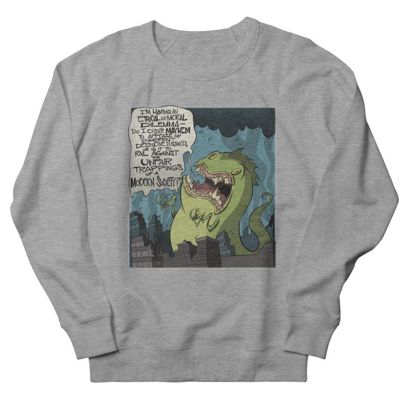 Existential Godzilla Women's Sweatshirt by westinchurch's Artist Shop