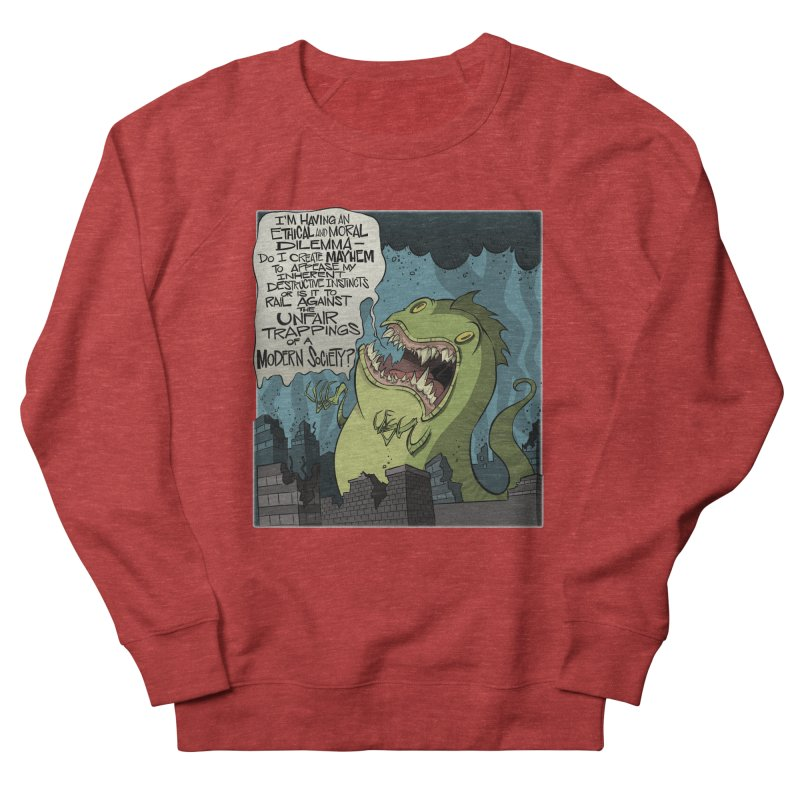 Existential Godzilla Men's Sweatshirt by westinchurch's Artist Shop