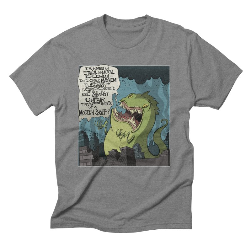 Existential Godzilla Men's Triblend T-Shirt by westinchurch's Artist Shop