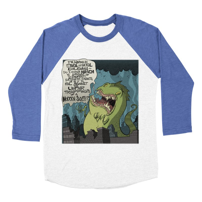 Existential Godzilla Women's Baseball Triblend T-Shirt by westinchurch's Artist Shop