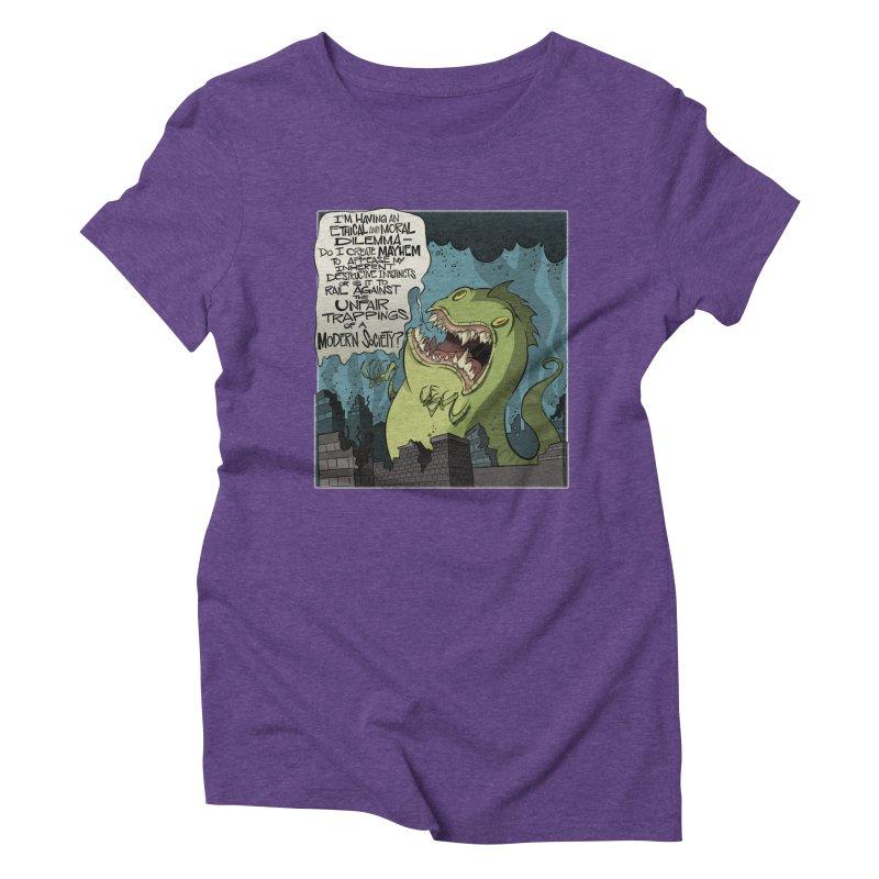 Existential Godzilla Women's Triblend T-Shirt by westinchurch's Artist Shop