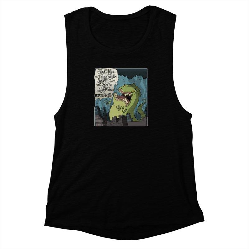 Existential Godzilla Women's Muscle Tank by westinchurch's Artist Shop