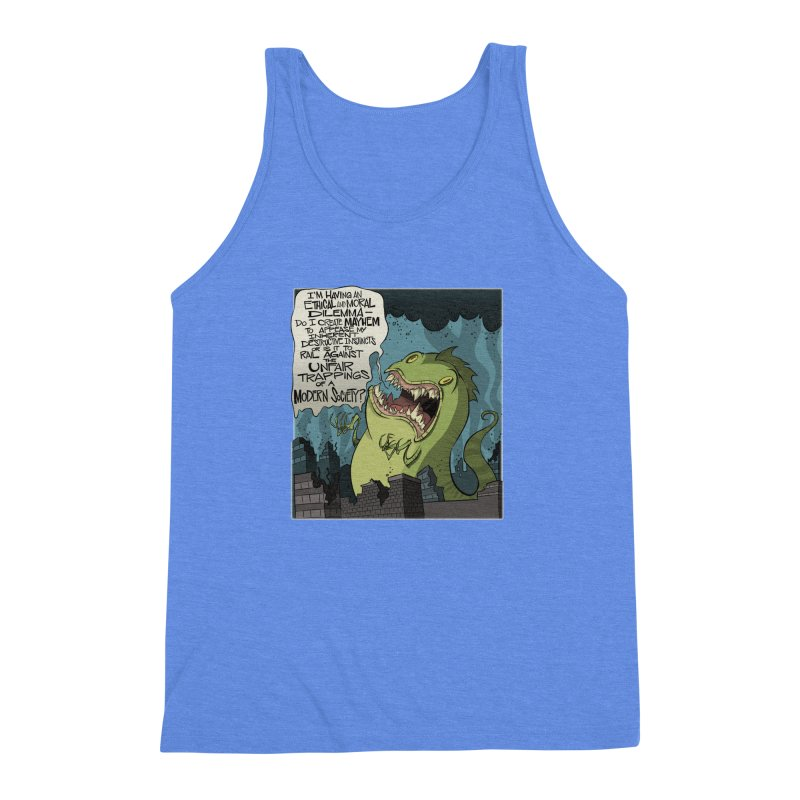 Existential Godzilla Men's Triblend Tank by westinchurch's Artist Shop