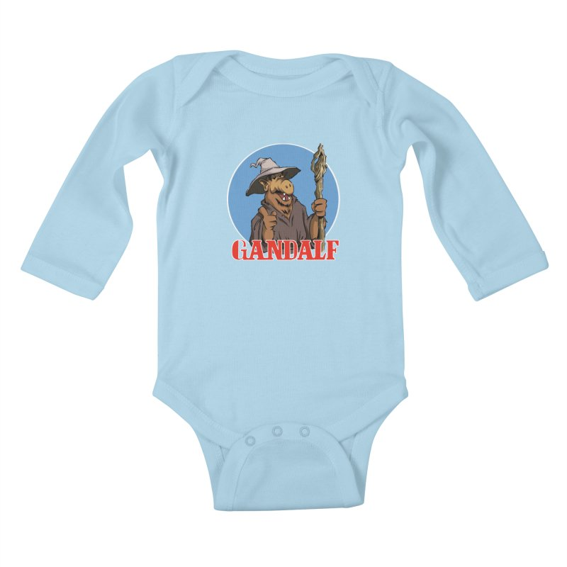 GandAlf Kids Baby Longsleeve Bodysuit by westinchurch's Artist Shop