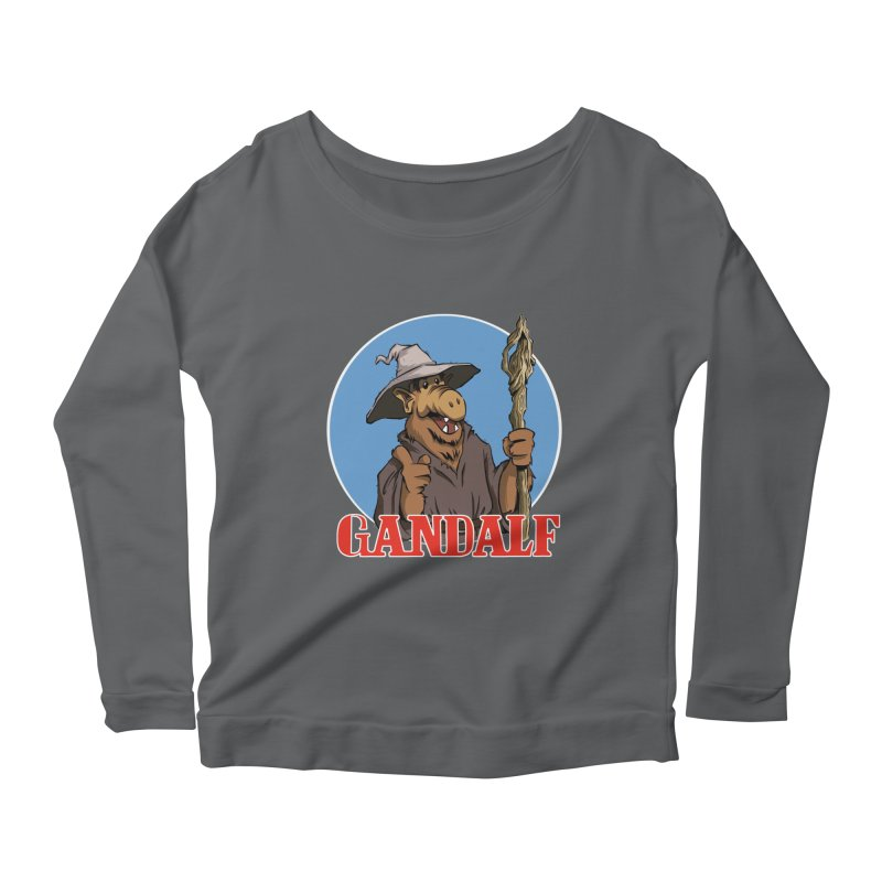 GandAlf Women's Longsleeve Scoopneck  by westinchurch's Artist Shop