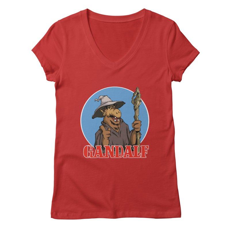 GandAlf Women's V-Neck by westinchurch's Artist Shop