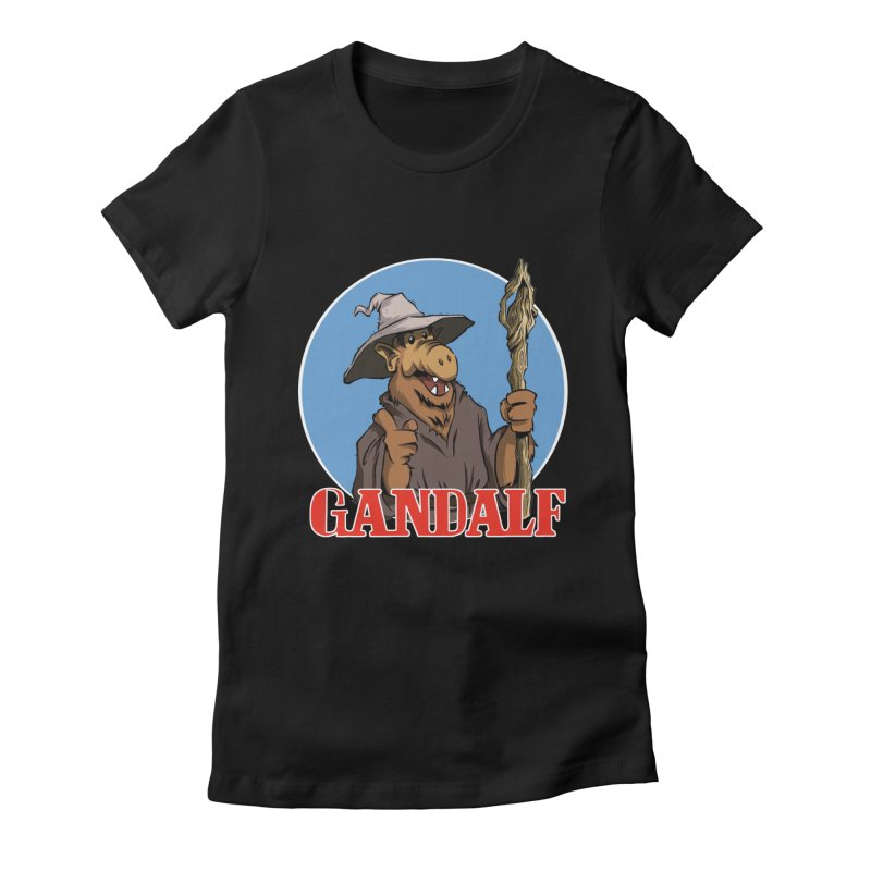 GandAlf Women's Fitted T-Shirt by westinchurch's Artist Shop