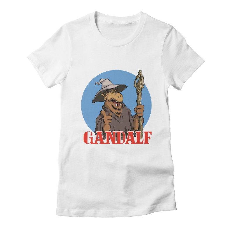 GandAlf Women's Fitted T-Shirt by westinchurch's Artist Shop