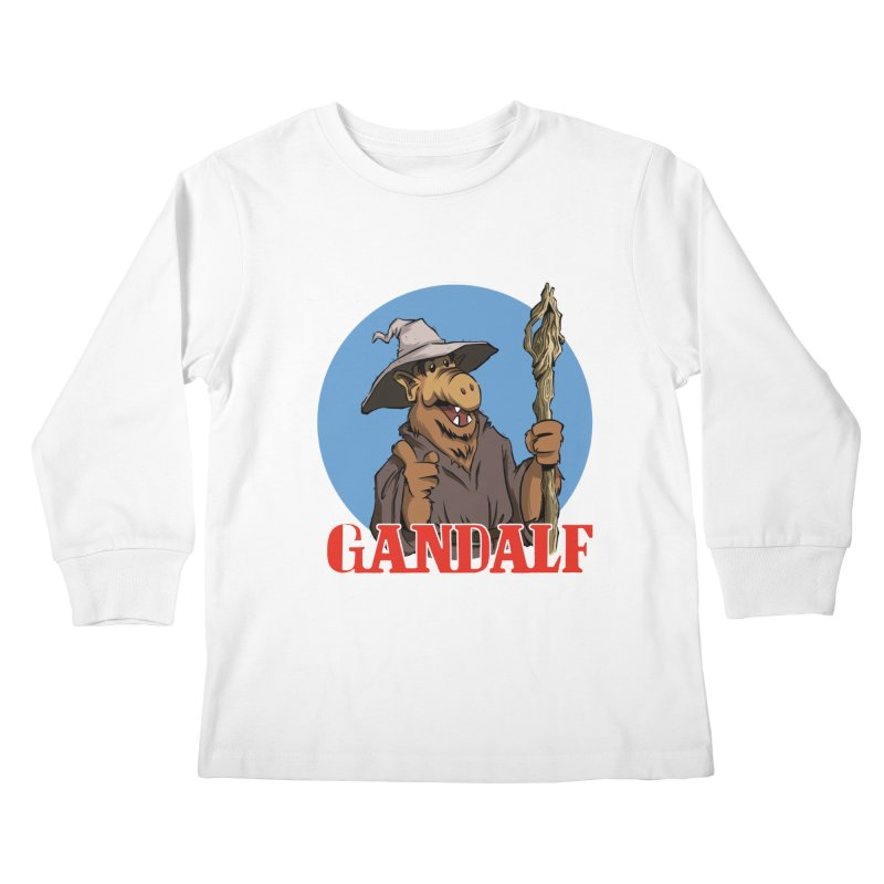 GandAlf Kids Longsleeve T-Shirt by westinchurch's Artist Shop