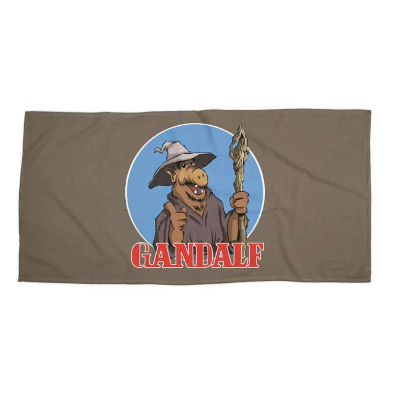GandAlf Accessories Beach Towel by westinchurch's Artist Shop