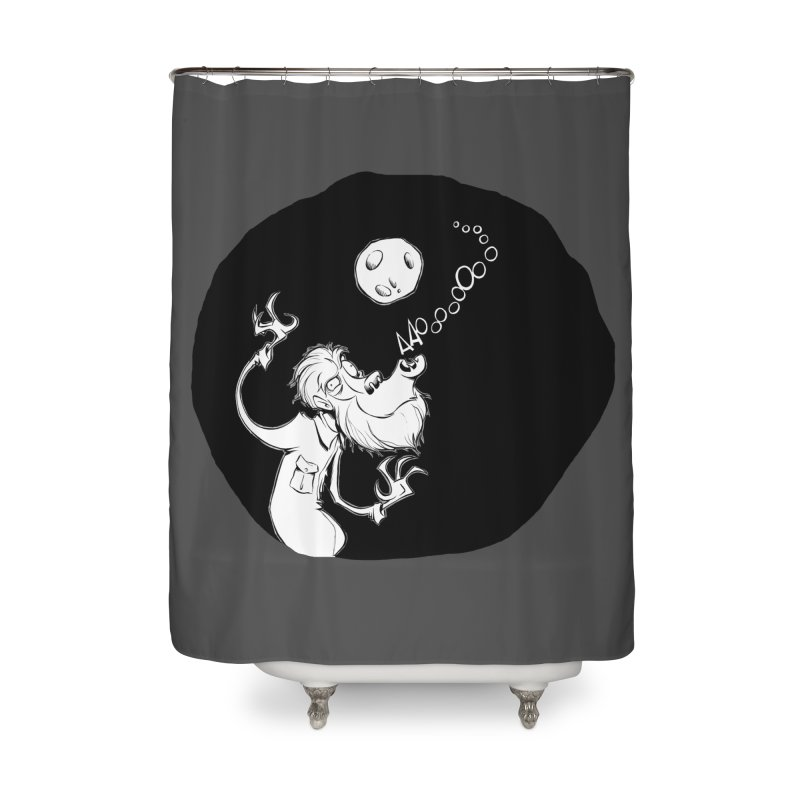Wolfman Home Shower Curtain by westinchurch's Artist Shop