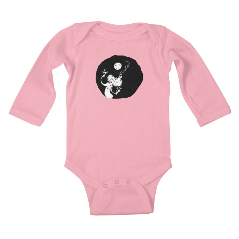 Wolfman Kids Baby Longsleeve Bodysuit by westinchurch's Artist Shop