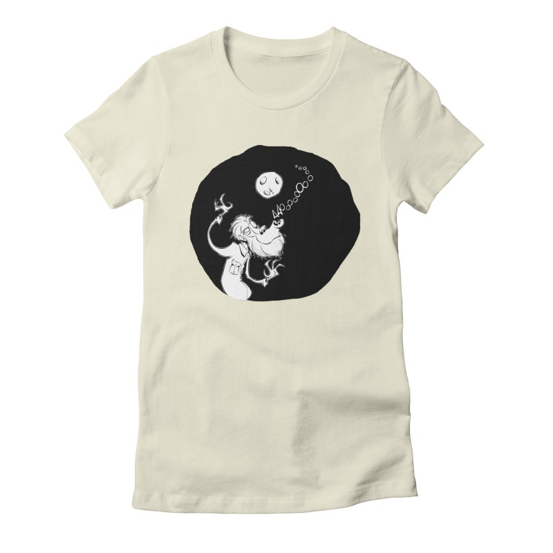 Wolfman Women's Fitted T-Shirt by westinchurch's Artist Shop