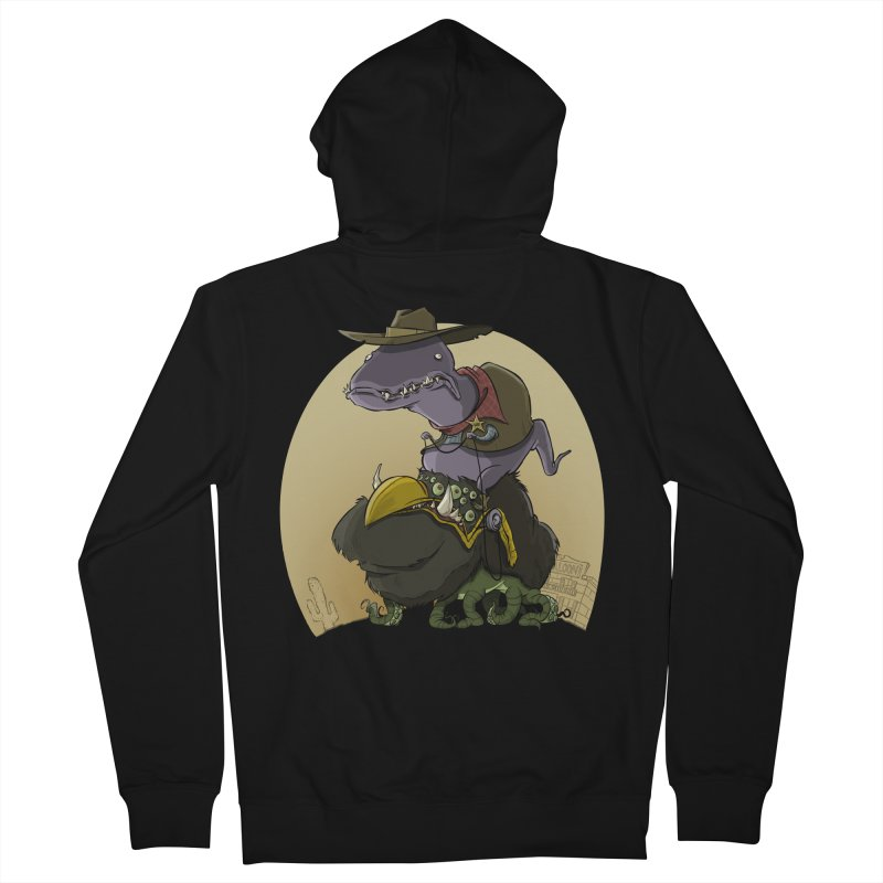 Jurassic Sheriff Men's Zip-Up Hoody by westinchurch's Artist Shop