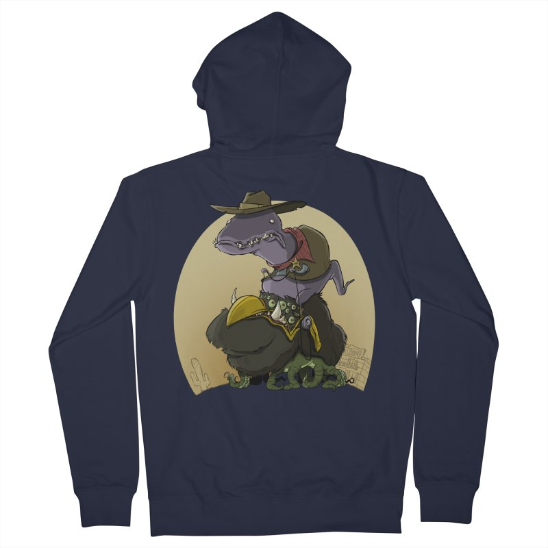 Jurassic Sheriff Men's Zip-Up Hoody by westinchurch's Artist Shop