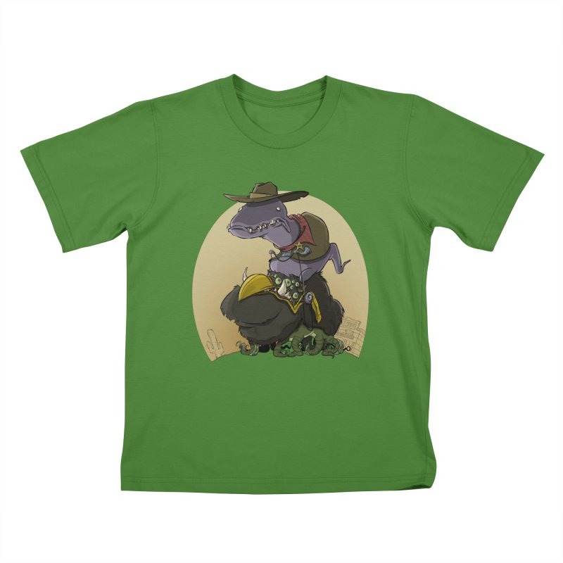 Jurassic Sheriff Kids T-shirt by westinchurch's Artist Shop
