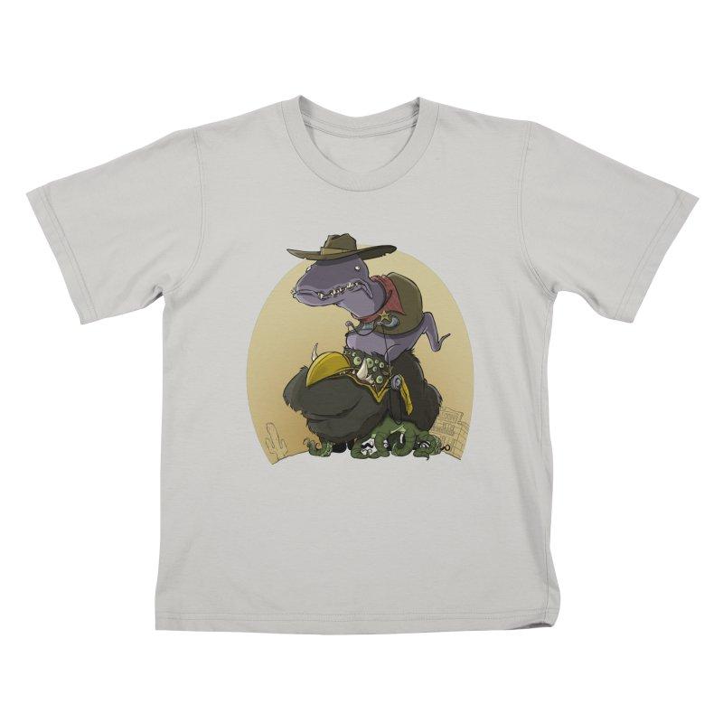 Jurassic Sheriff Kids T-Shirt by westinchurch's Artist Shop