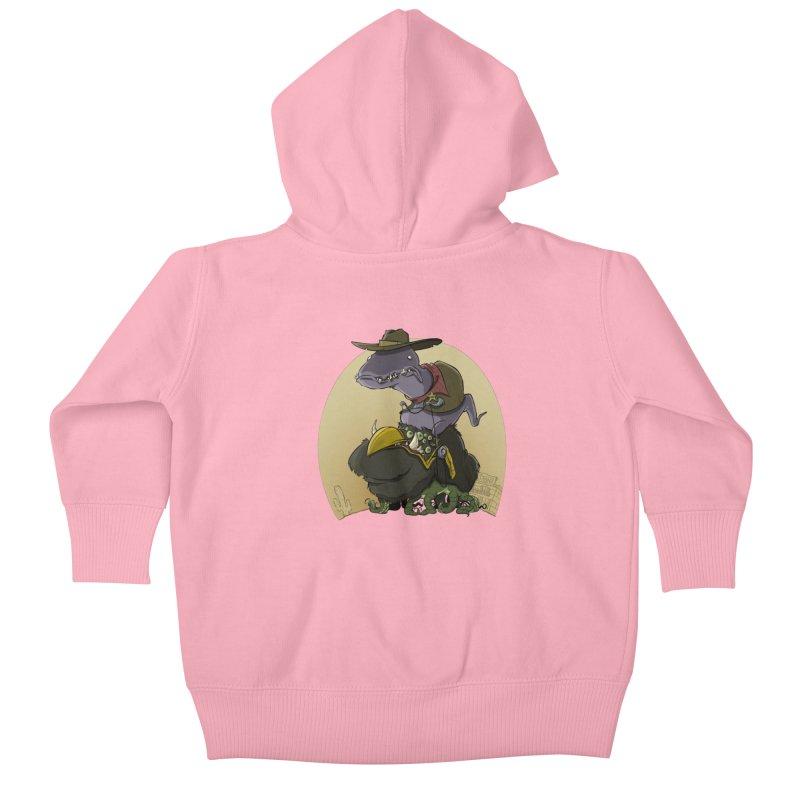 Jurassic Sheriff Kids Baby Zip-Up Hoody by westinchurch's Artist Shop
