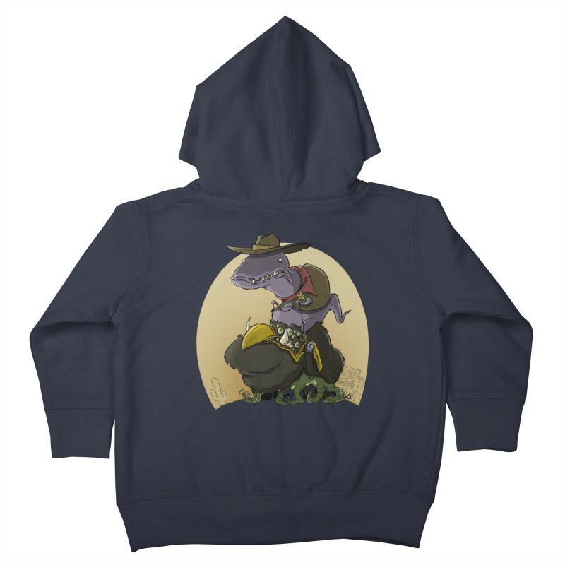 Jurassic Sheriff Kids Toddler Zip-Up Hoody by westinchurch's Artist Shop