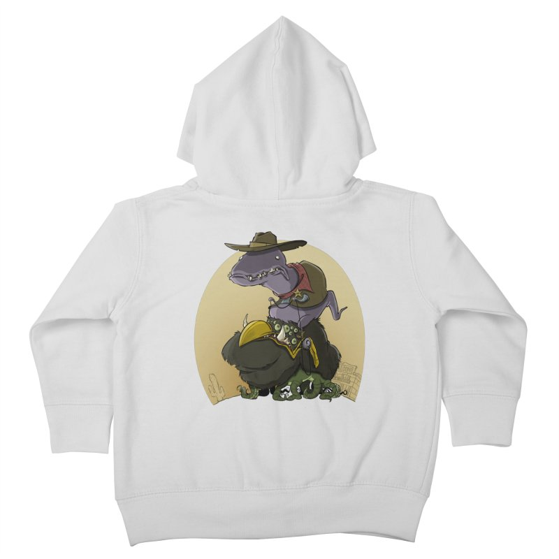 Jurassic Sheriff Kids Toddler Zip-Up Hoody by westinchurch's Artist Shop