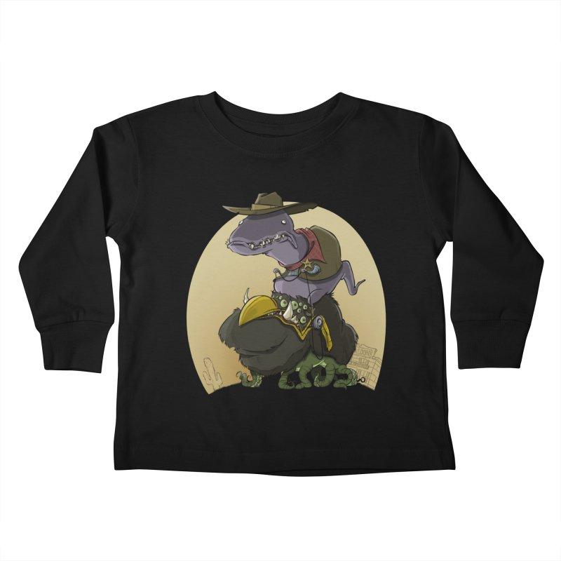 Jurassic Sheriff Kids Toddler Longsleeve T-Shirt by westinchurch's Artist Shop