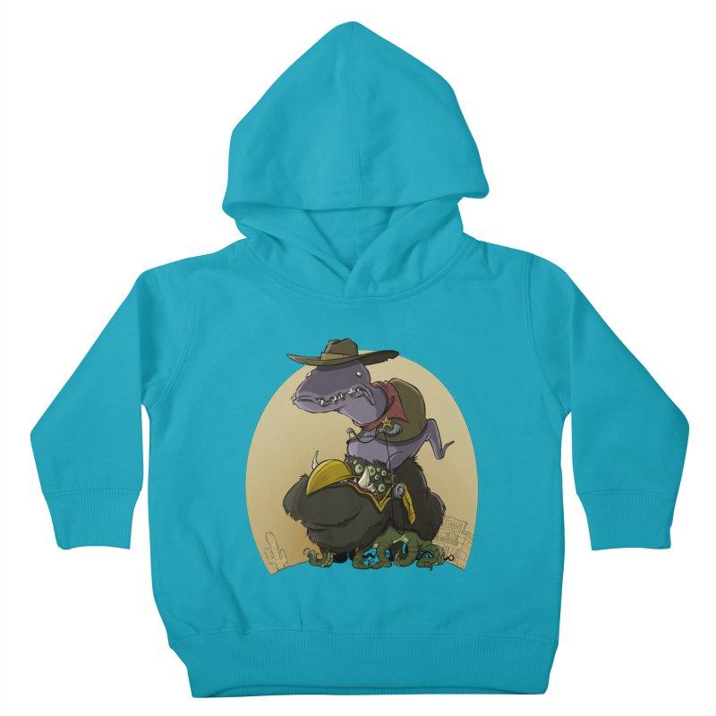 Jurassic Sheriff Kids Toddler Pullover Hoody by westinchurch's Artist Shop