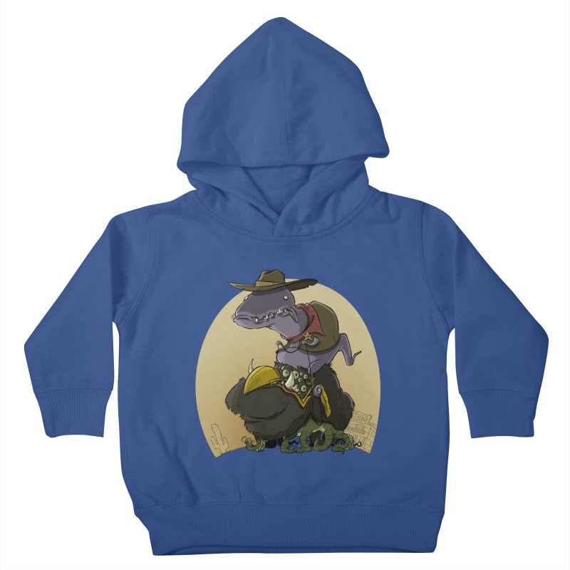 Jurassic Sheriff Kids Toddler Pullover Hoody by westinchurch's Artist Shop