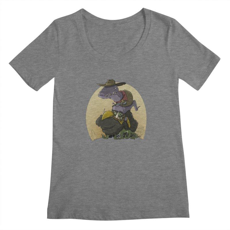 Jurassic Sheriff Women's Scoopneck by westinchurch's Artist Shop