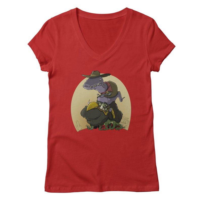 Jurassic Sheriff Women's V-Neck by westinchurch's Artist Shop