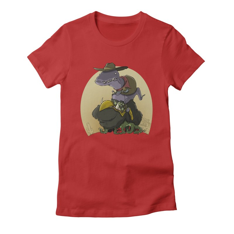 Jurassic Sheriff Women's Fitted T-Shirt by westinchurch's Artist Shop