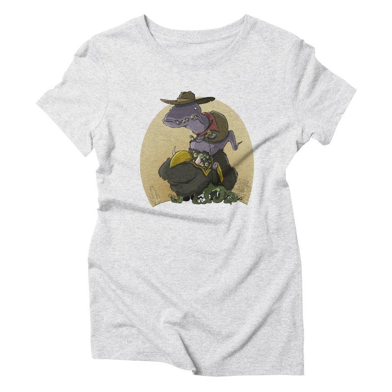 Jurassic Sheriff Women's Triblend T-Shirt by westinchurch's Artist Shop