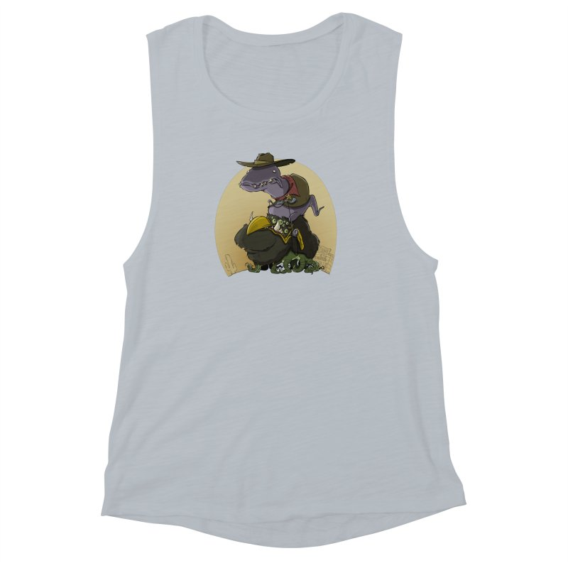 Jurassic Sheriff Women's Muscle Tank by westinchurch's Artist Shop