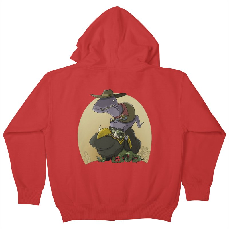 Jurassic Sheriff Kids Zip-Up Hoody by westinchurch's Artist Shop
