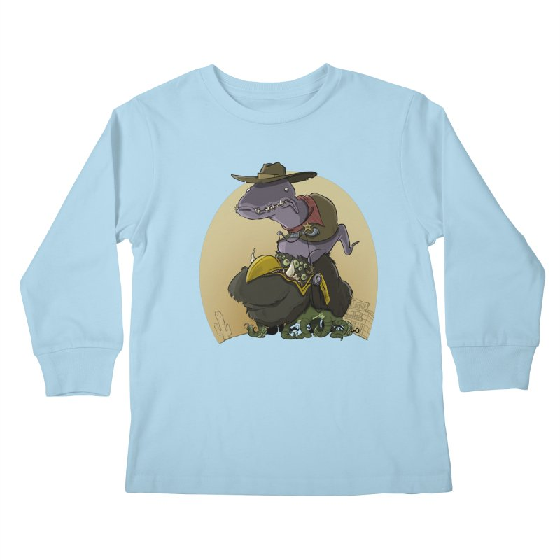 Jurassic Sheriff Kids Longsleeve T-Shirt by westinchurch's Artist Shop