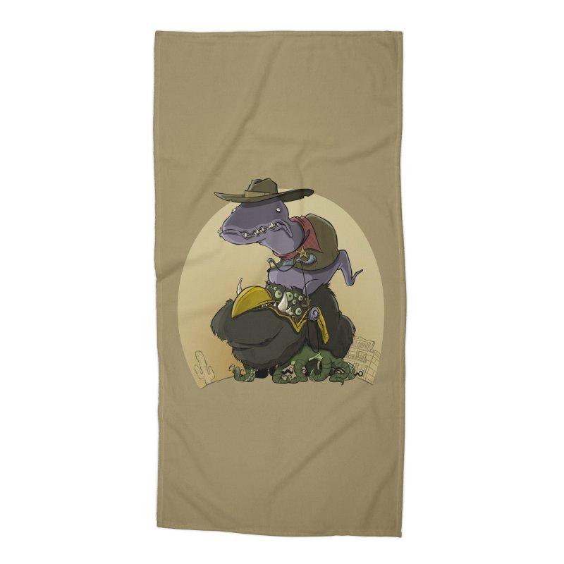Jurassic Sheriff Accessories Beach Towel by westinchurch's Artist Shop