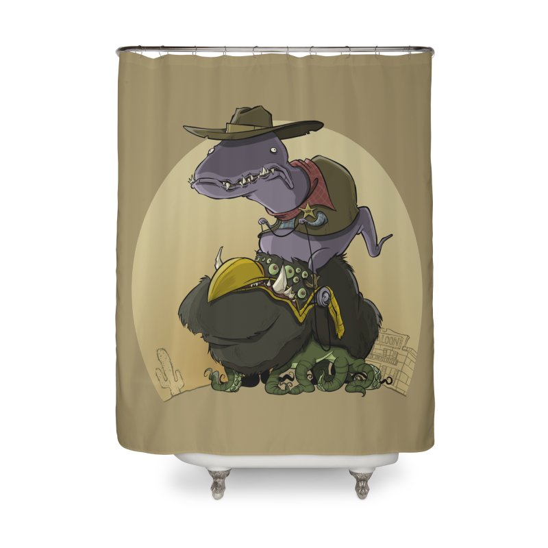 Jurassic Sheriff Home Shower Curtain by westinchurch's Artist Shop