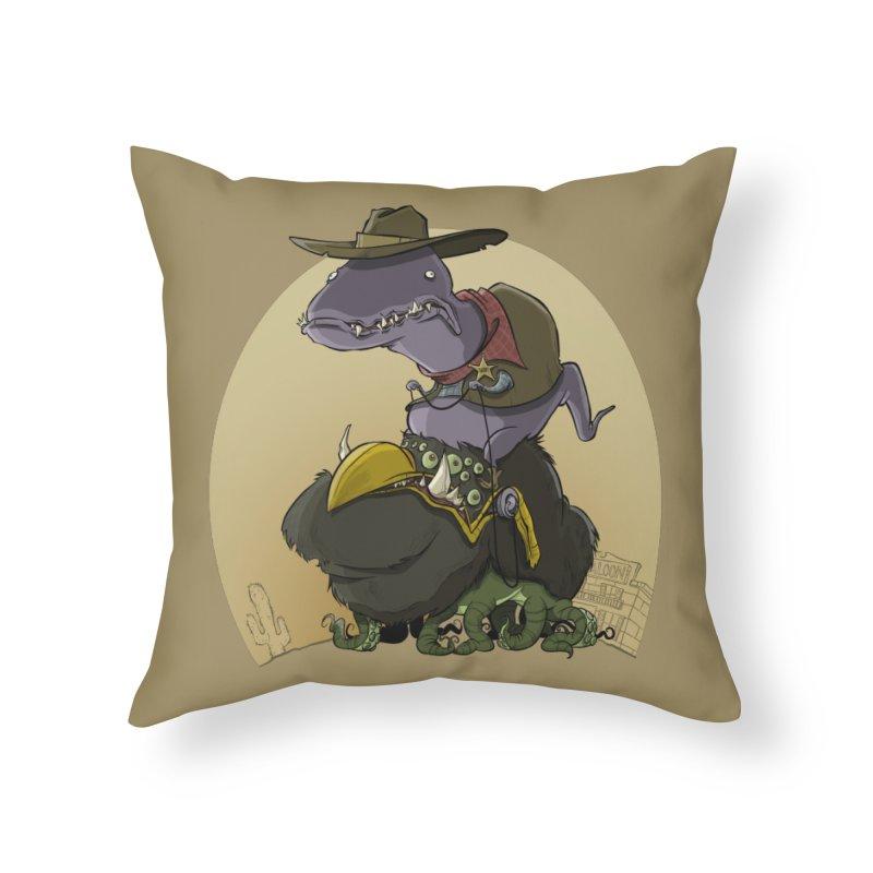Jurassic Sheriff Home Throw Pillow by westinchurch's Artist Shop