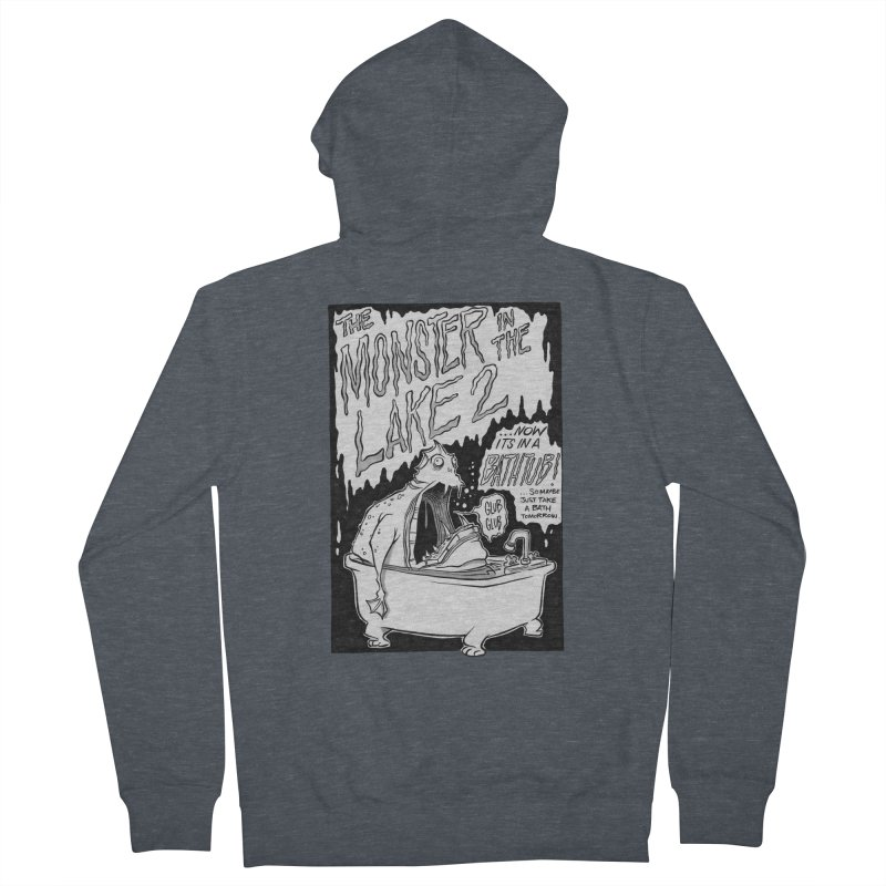 Monster in the Lake 2 Men's Zip-Up Hoody by westinchurch's Artist Shop
