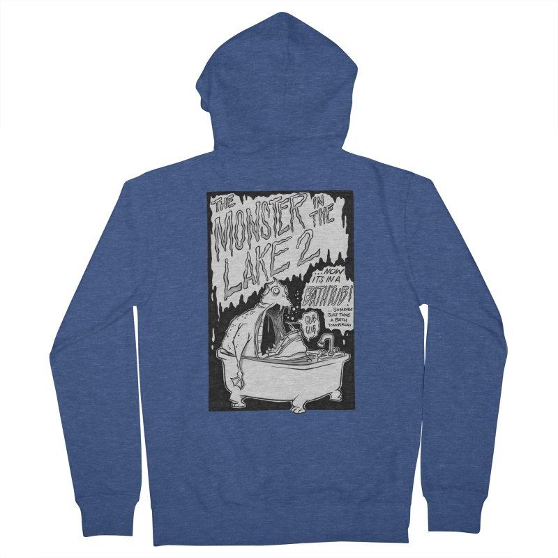 Monster in the Lake 2 Men's Zip-Up Hoody by westinchurch's Artist Shop