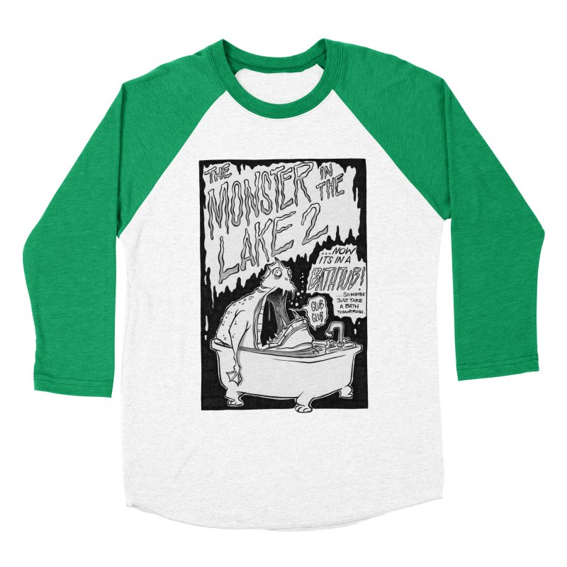 Monster in the Lake 2 Men's Baseball Triblend T-Shirt by westinchurch's Artist Shop