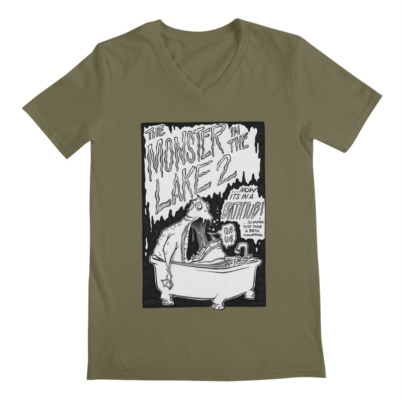 Monster in the Lake 2 Men's V-Neck by westinchurch's Artist Shop