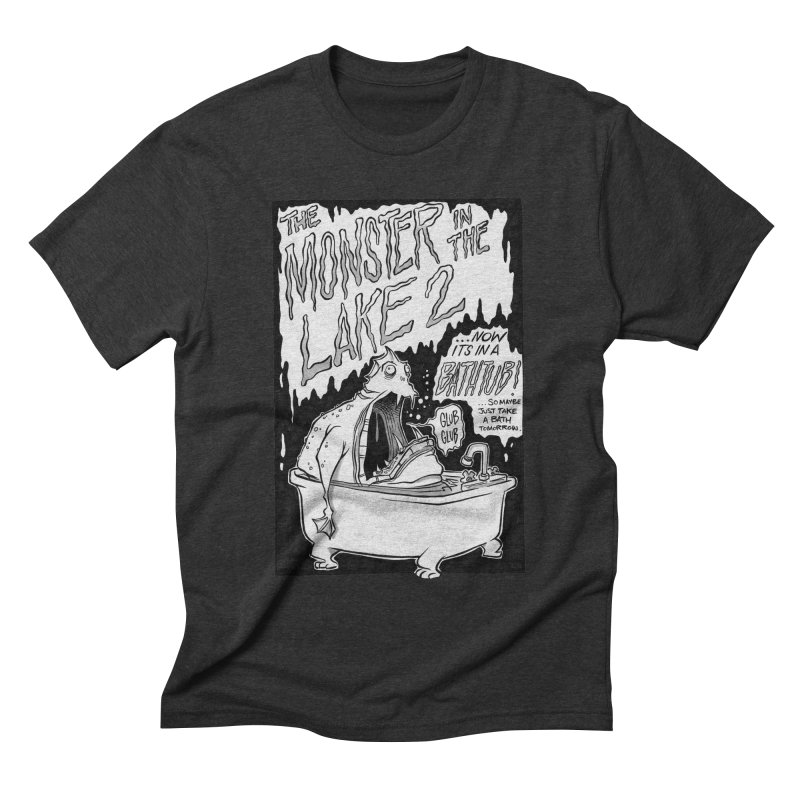 Monster in the Lake 2 Men's Triblend T-shirt by westinchurch's Artist Shop