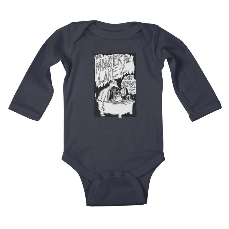 Monster in the Lake 2 Kids Baby Longsleeve Bodysuit by westinchurch's Artist Shop