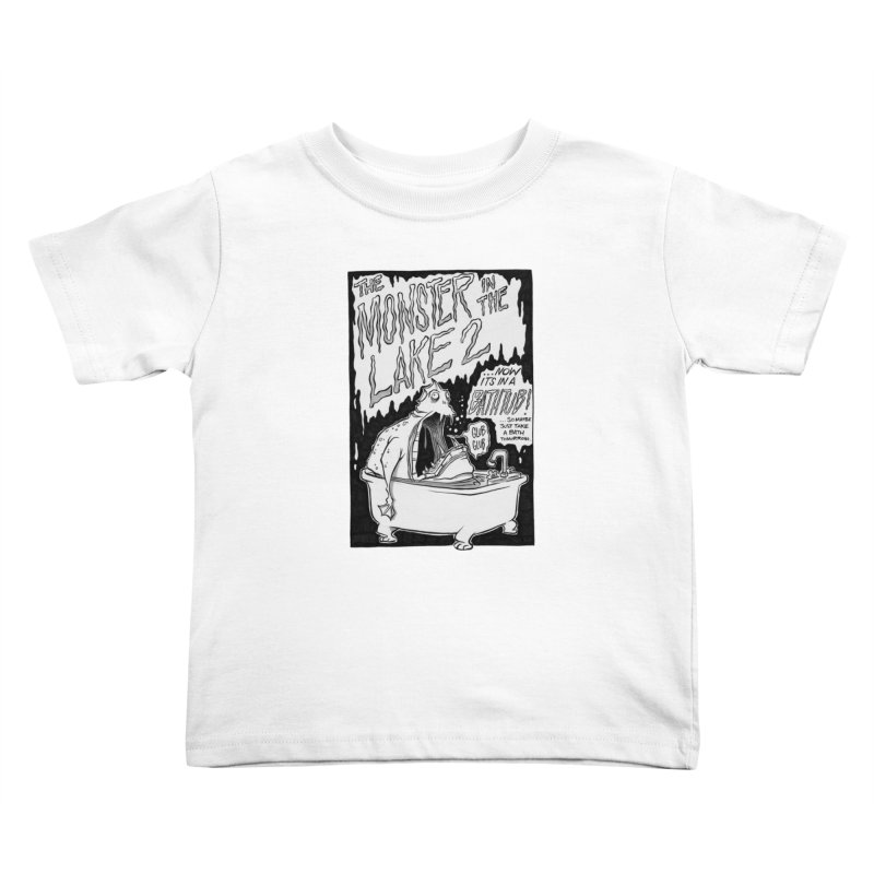 Monster in the Lake 2 Kids Toddler T-Shirt by westinchurch's Artist Shop