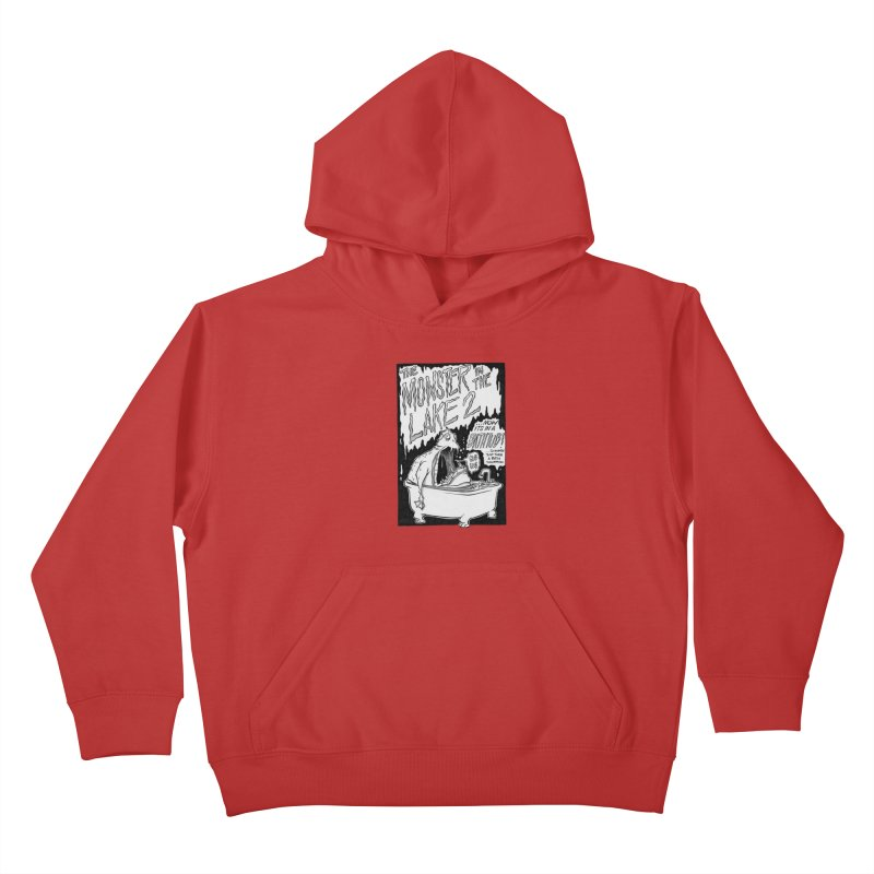 Monster in the Lake 2 Kids Pullover Hoody by westinchurch's Artist Shop
