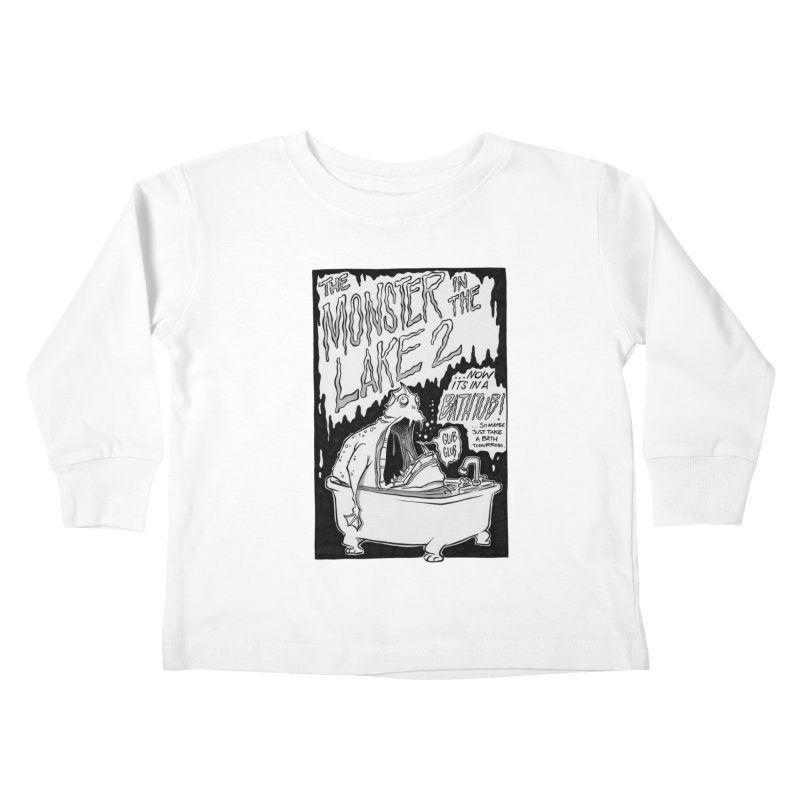Monster in the Lake 2 Kids Toddler Longsleeve T-Shirt by westinchurch's Artist Shop