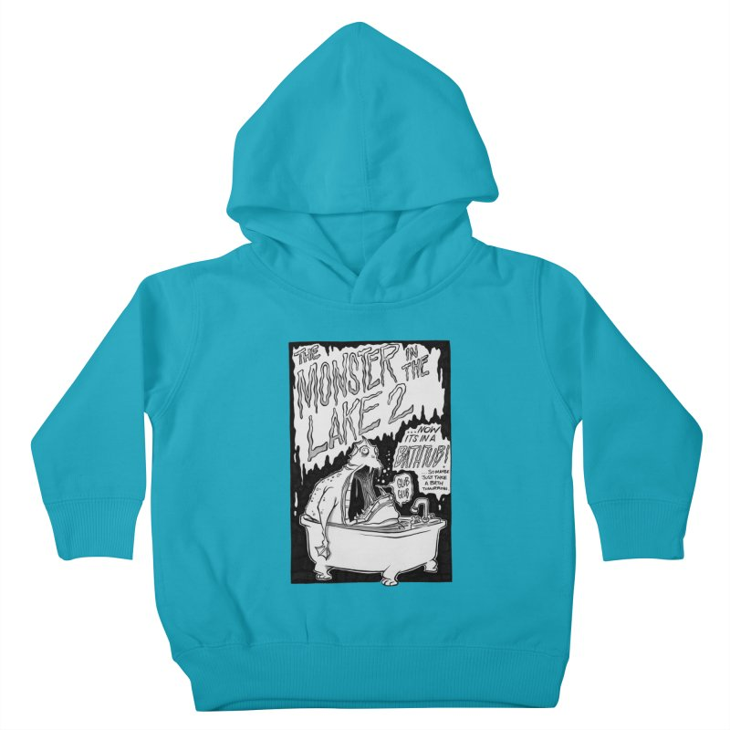 Monster in the Lake 2 Kids Toddler Pullover Hoody by westinchurch's Artist Shop